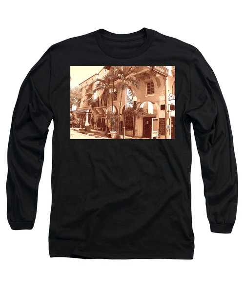 Espanola Way In Miami South Beach Long Sleeve T-Shirt