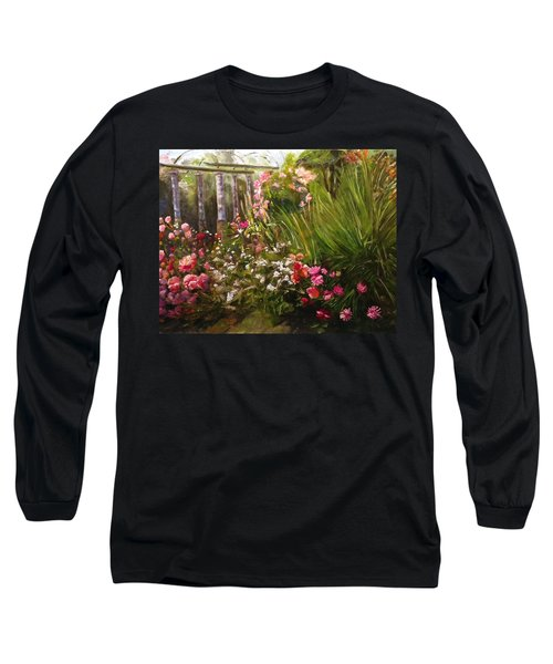 Columns At Evergreen Arboretum Long Sleeve T-Shirt