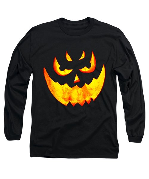 Evil Glowing Pumpkin Long Sleeve T-Shirt