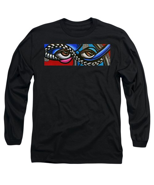 Eye Art Painting Abstract Chromatic Painting Electric Energy Artwork Long Sleeve T-Shirt