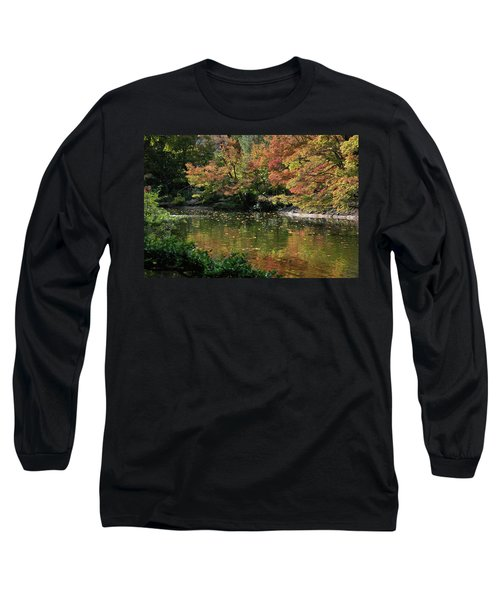 Fall At The Japanese Garden Long Sleeve T-Shirt