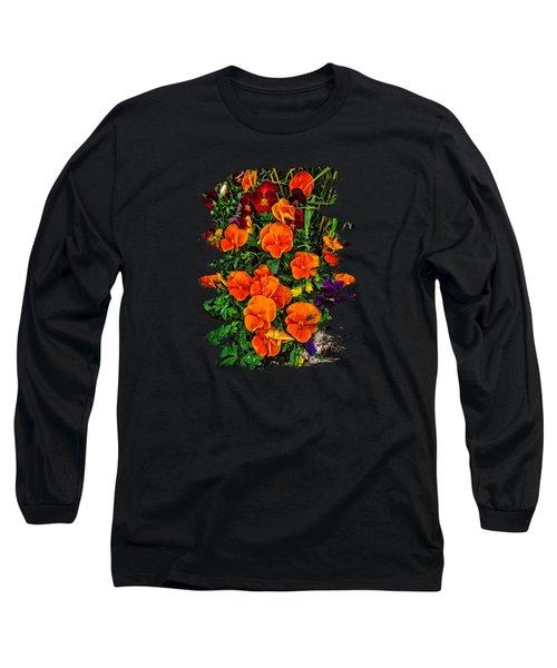 Fall Pansies Long Sleeve T-Shirt