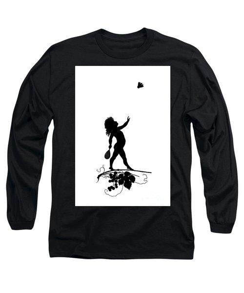 Figure With Shuttlecock Long Sleeve T-Shirt