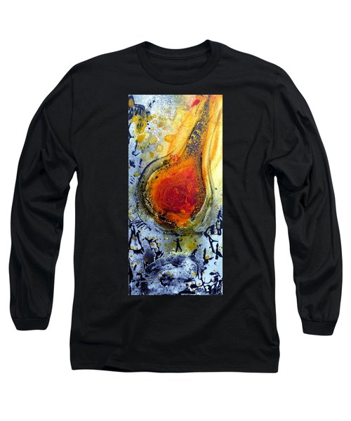 Long Sleeve T-Shirt featuring the painting Fireball by 'REA' Gallery