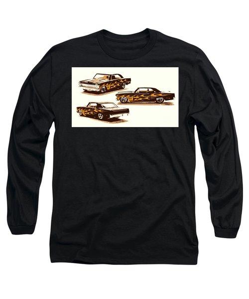 Flamin Chevrolet 66 Nova Long Sleeve T-Shirt