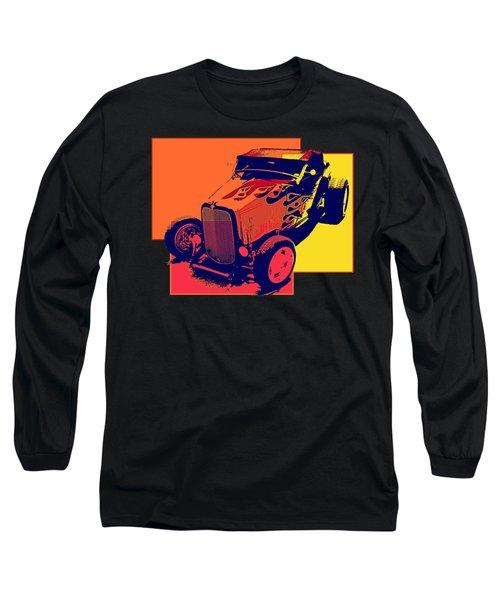 Flaming Hot Rod Long Sleeve T-Shirt