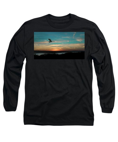Flight To The Lake Long Sleeve T-Shirt