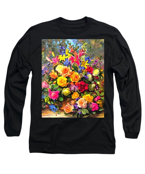Floral Bouquet In Acrylic Long Sleeve T-Shirt