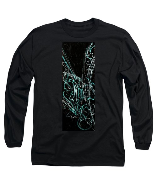 Florescence. Calligraphic Abstract Long Sleeve T-Shirt