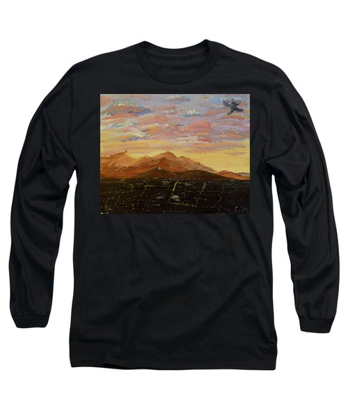 Flying Over Tucson Long Sleeve T-Shirt