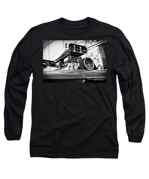 Ford Mustang Vintage Motor Engine Long Sleeve T-Shirt