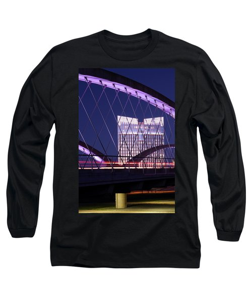Fort Worth West Seventh Street Bridge V2 021419 Long Sleeve T-Shirt