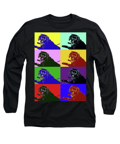 Foster Dog Pop Art Long Sleeve T-Shirt