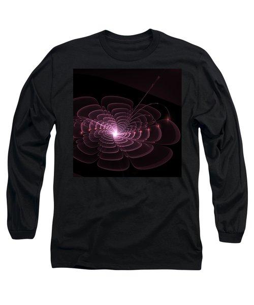 Fractal Rose Long Sleeve T-Shirt