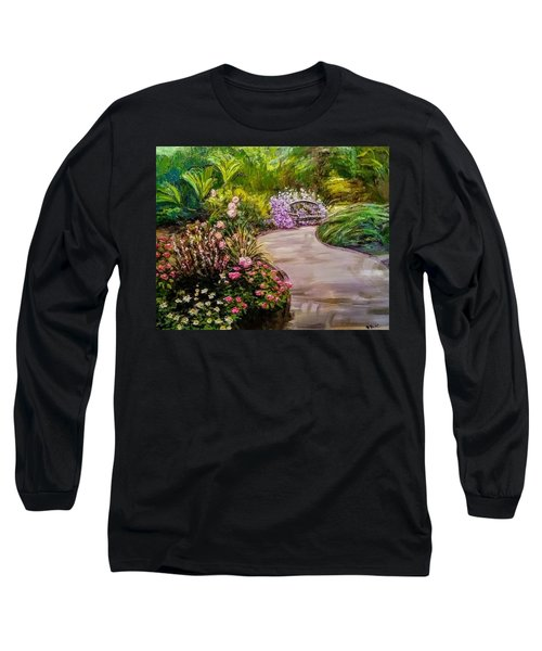Path To The Garden Bench At Evergreen Arboretum Long Sleeve T-Shirt