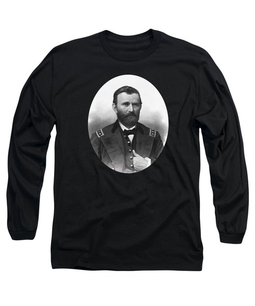 General Grant Engraved Portrait Long Sleeve T-Shirt