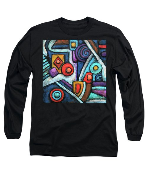Geometric Abstract 4 Long Sleeve T-Shirt