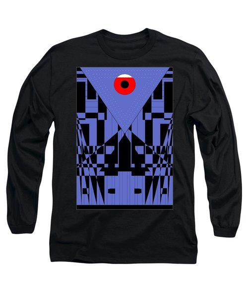 Geometric Red Dot  Long Sleeve T-Shirt