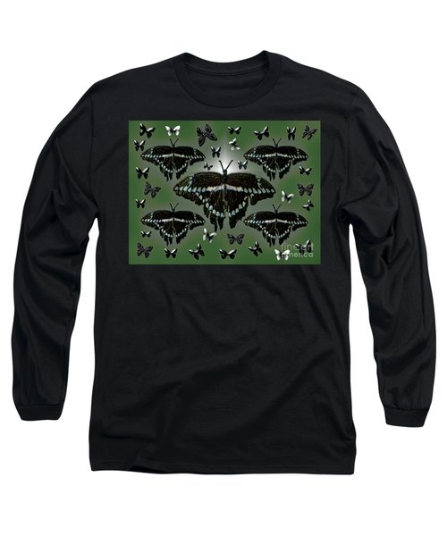 Long Sleeve T-Shirt featuring the photograph Giant Swallowtail Butterflies by Rockin Docks Deluxephotos