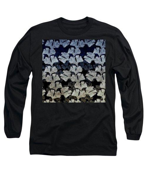 Ginko Leaf Pattern Long Sleeve T-Shirt