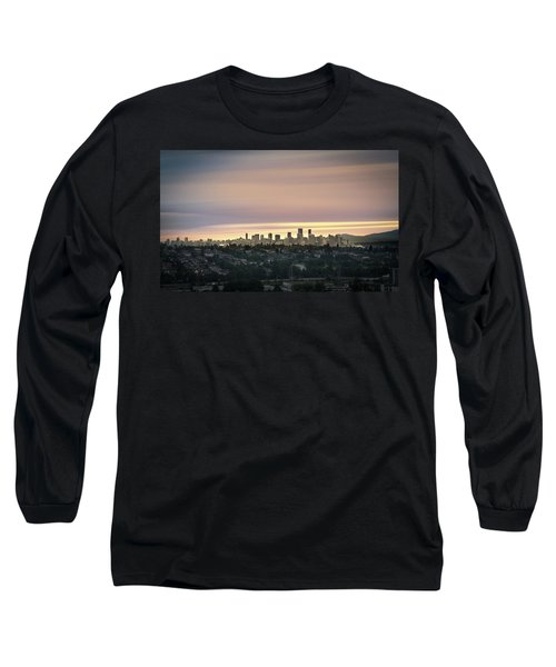 Gloden Sky On Vancouver Long Sleeve T-Shirt