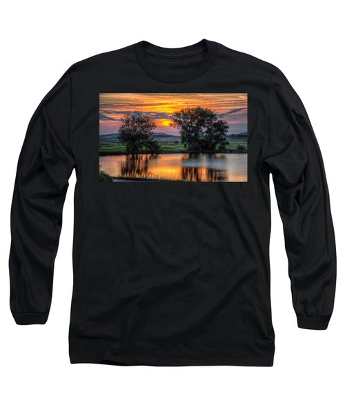 Golden Pond At 36x60 Long Sleeve T-Shirt