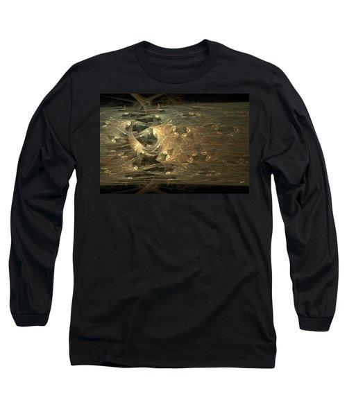 Golden Soul - Modern Abstract Art Long Sleeve T-Shirt