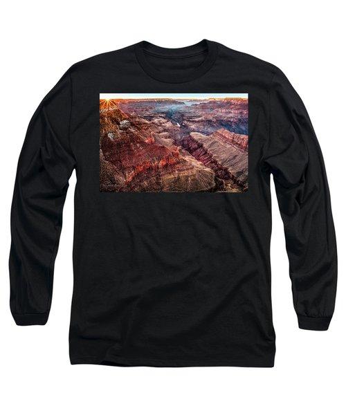 Grand Canyon Winter Sunset Long Sleeve T-Shirt