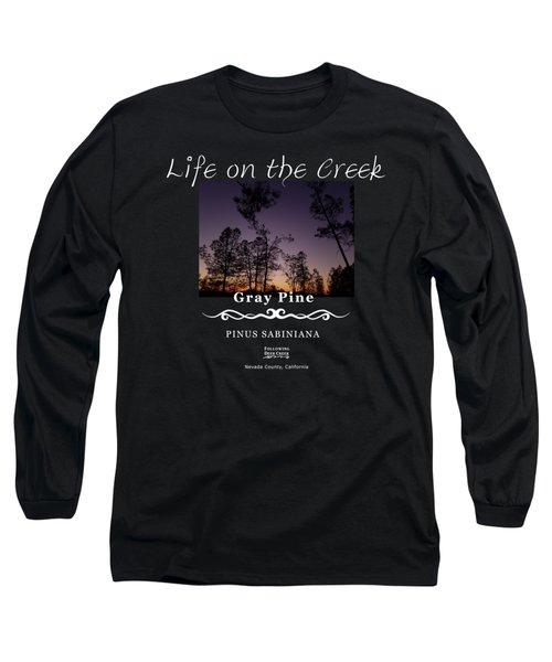 Gray Pine Long Sleeve T-Shirt