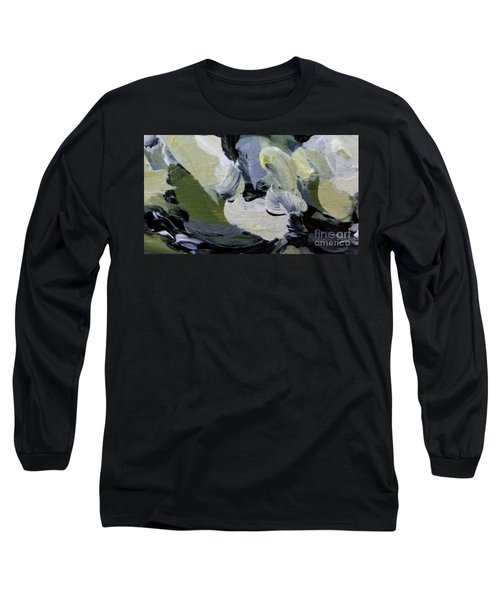 Long Sleeve T-Shirt featuring the painting Green #2 by Maria Langgle