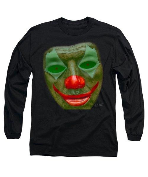 Green Clown Face Long Sleeve T-Shirt