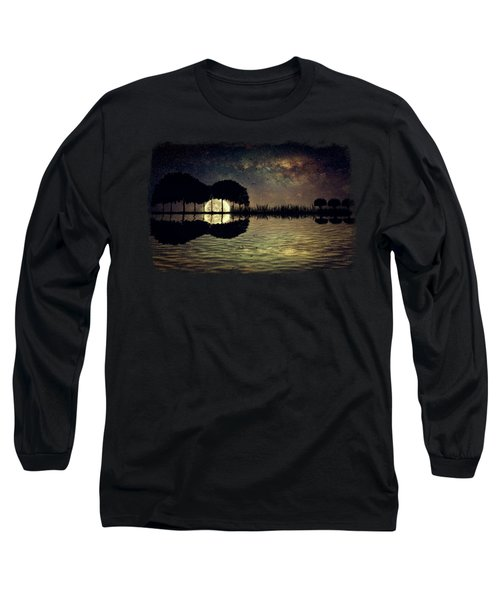 Guitar Island Moonlight Long Sleeve T-Shirt