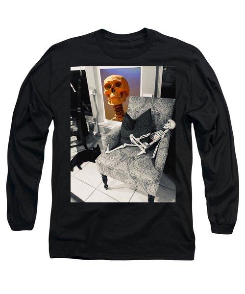 Halloween Window Dressing Long Sleeve T-Shirt