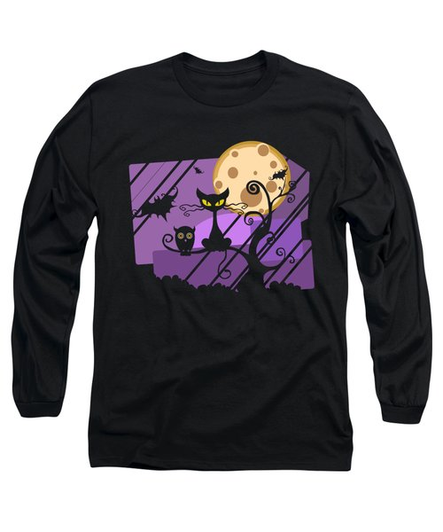 Happy Halloween Cat Long Sleeve T-Shirt