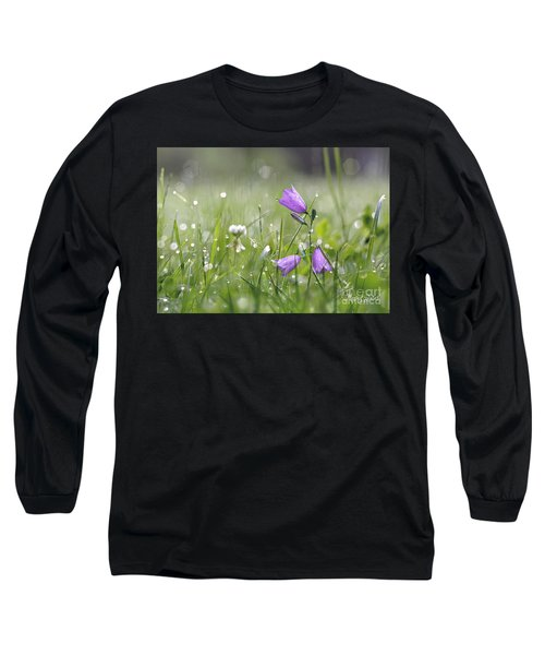 Harebells And Water Drops Long Sleeve T-Shirt