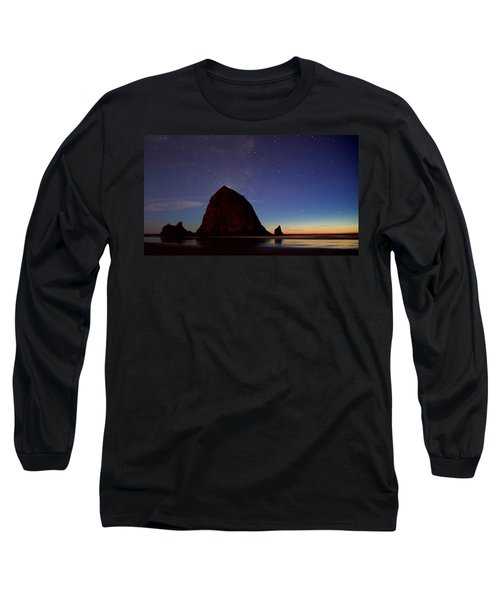 Haystack Night Sky Long Sleeve T-Shirt