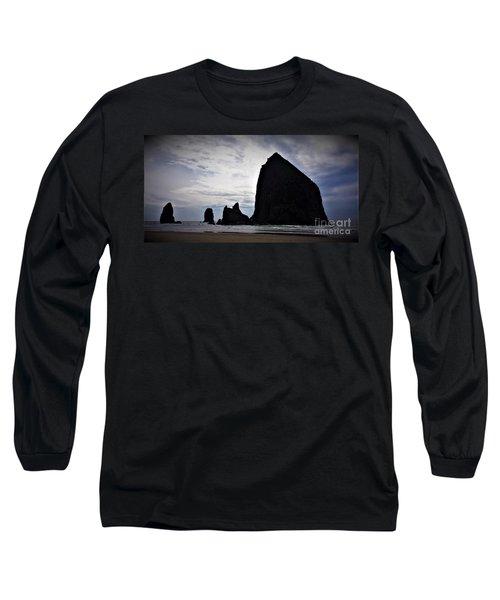 Haystack Rock Canon Beach Long Sleeve T-Shirt