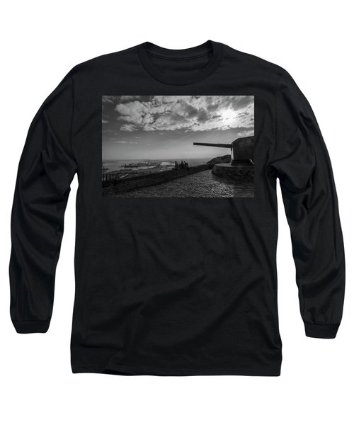 Long Sleeve T-Shirt featuring the photograph Heavy Weapons And A Light Lunch by Alex Lapidus