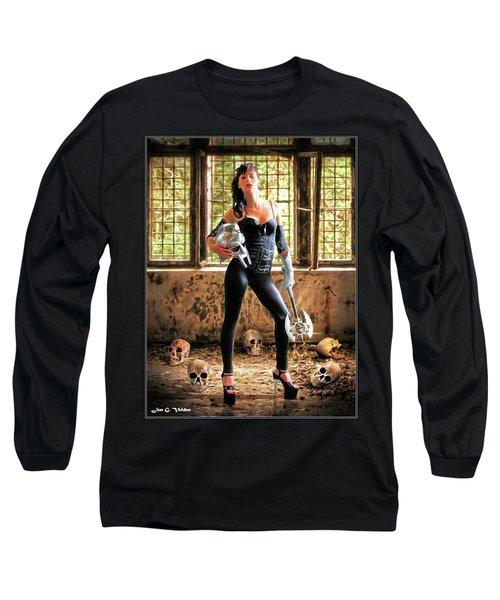 High Heeled Zombie Slayer Long Sleeve T-Shirt