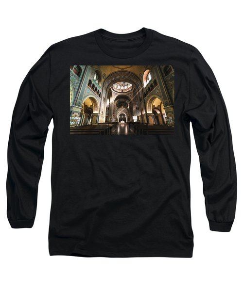 Interior Of The Votive Cathedral, Szeged, Hungary Long Sleeve T-Shirt