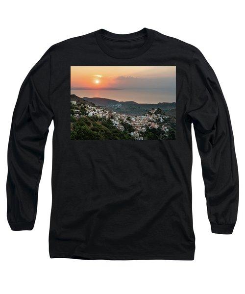 Ioulis Town Sunset, Kea Long Sleeve T-Shirt