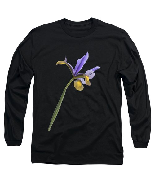 Iris On A Transparent Background Long Sleeve T-Shirt