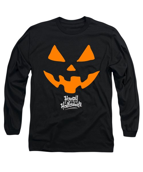 Jackolantern Pumpkin Happy Halloween Long Sleeve T-Shirt