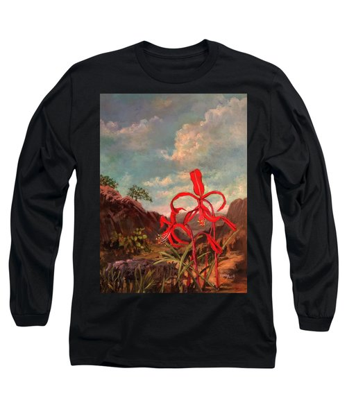 Jacobean Lily Of Mexico Long Sleeve T-Shirt