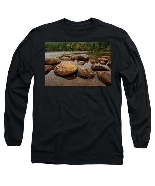 Jordon Pond Boulders Long Sleeve T-Shirt