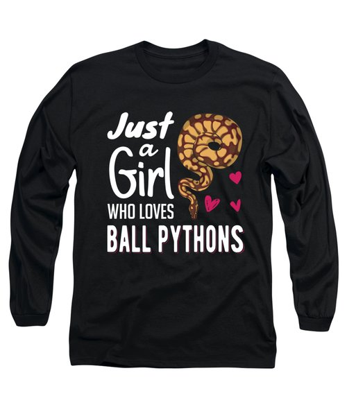 Just A Girl Who Loves Ball Python Snake Woman Long Sleeve T-Shirt