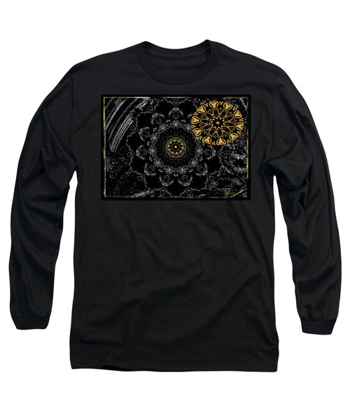 Kaleidoscope Moon For Children Gone Too Soon Number 2 - Faces And Flowers Long Sleeve T-Shirt