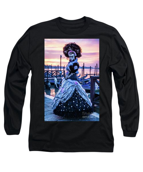 Lady In Black Long Sleeve T-Shirt