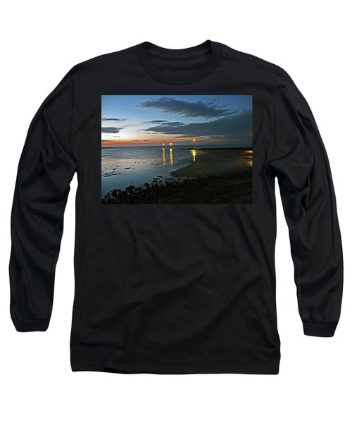 Lancashire. Knott End. Sunset.. Long Sleeve T-Shirt