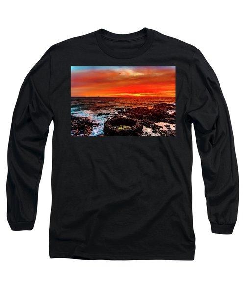 Lava Bath After Sunset Long Sleeve T-Shirt